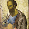 Апостол Павел из деисусного чина. 1410-е. Андрей Рублёв. ГТГ.jpg